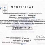 Sertifikat IZOPROGRES ISO 14001 - Srp